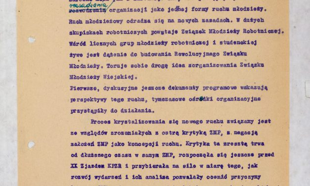 Oświadczenie ZG ZMP poVIII plenum KC PZPR